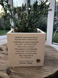 Personalised Flower / Plant Pot In Memory Of Loved One DAUGHTER SON Or ANY NAME